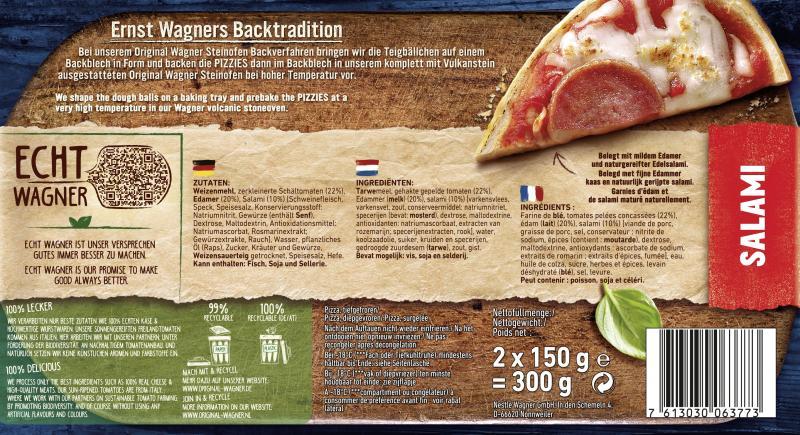 Original Wagner Steinofen Pizzies Salami