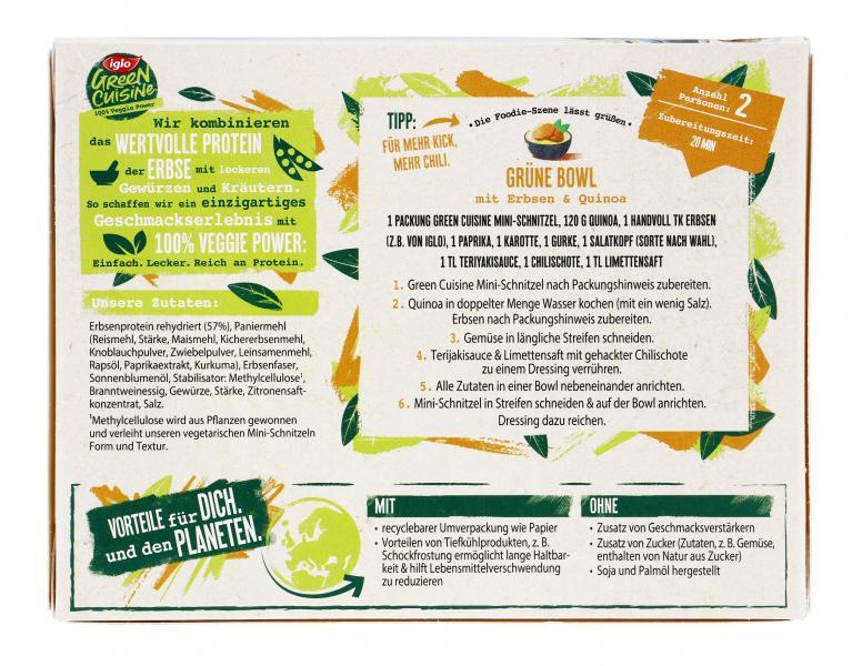 Iglo Green Cuisine Vegtarische Mini-Schnitzel