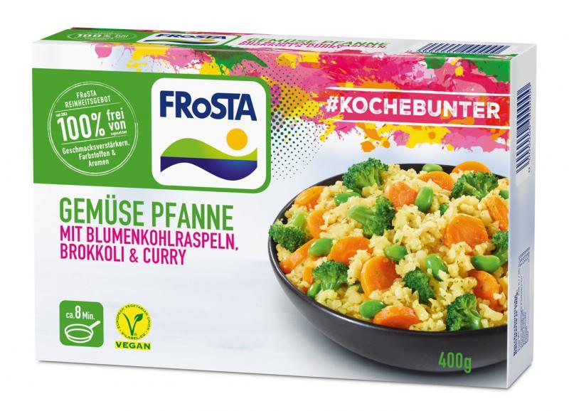 Frosta #Kochebunter Gemüse Pfanne mit Blumenkohlraspeln, Brokkoli & Curry