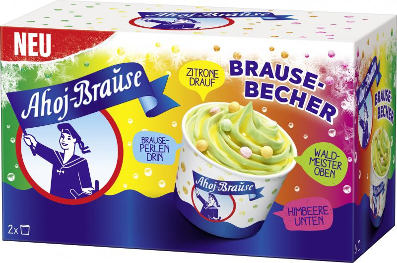 Ahoj Brause Becher Himbeer-Waldmeister