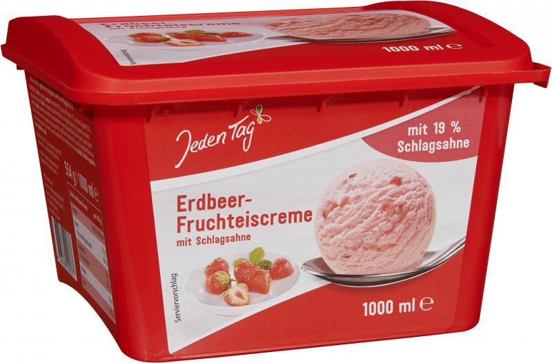 Jeden Tag Erdbeer-Fruchteiscreme
