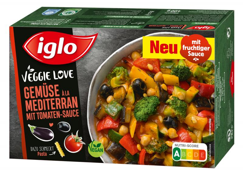 Iglo Veggie Love Gemüse à la Mediterran mit Tomaten-Sauce