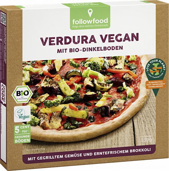 Followfood Pizza Verdura Vegan mit Bio-Dinkelboden