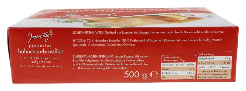 Jeden Tag Hähnchenbrust-Filet paniert