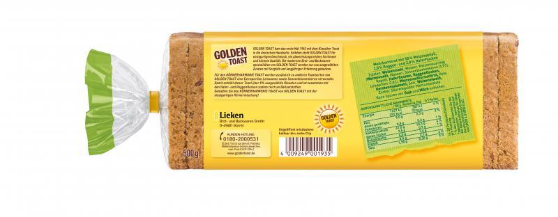Golden Toast Körner Harmonie Toast