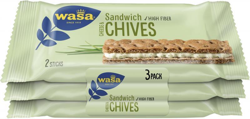 Wasa Knäckebrot Sandwich Käse & Schnittlauch