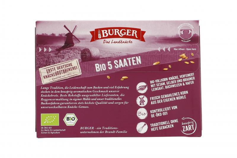 Burger Knäckebrot Bio 5-Saaten