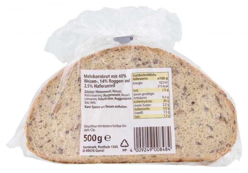 Kornmark Mehrkorn-Schnitten