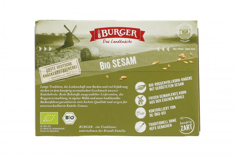 Burger Knäckebrot Bio Sesam