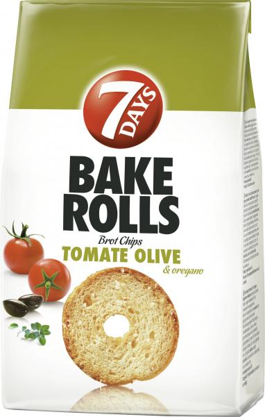 7 Days Bake Rolls Brot Chips Tomate Olive & Oregano