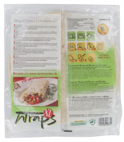 Mestemacher California Wraps Weizen XL