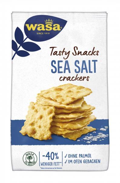 Wasa Knäckebrot Delicate Crackers Meersalz