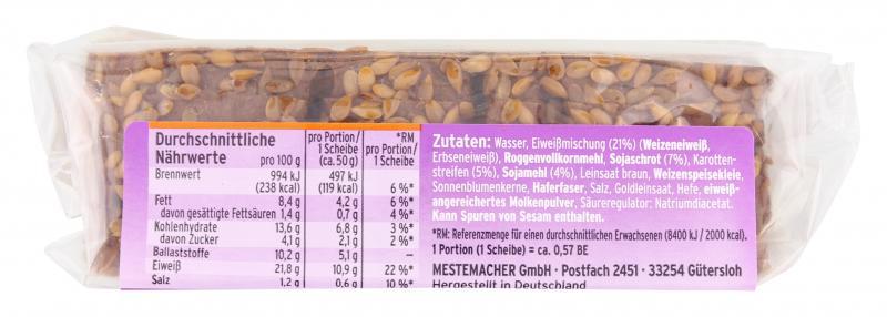 Mestemacher Eiweißbrot mit Karotten