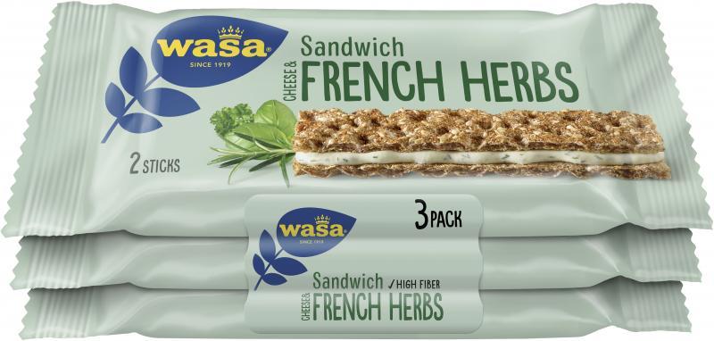 Wasa Knäckebrot Sandwich Käse & französische Kräuter