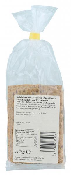 Goldmarie Knäckebrot Käse Kürbiskern