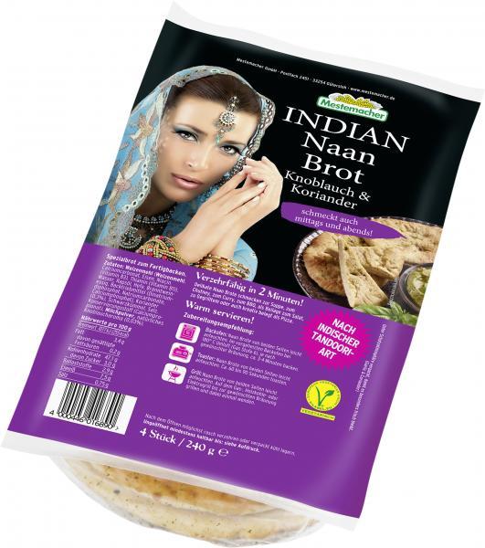 Mestemacher Indian Naan Brot Knoblauch & Koriander