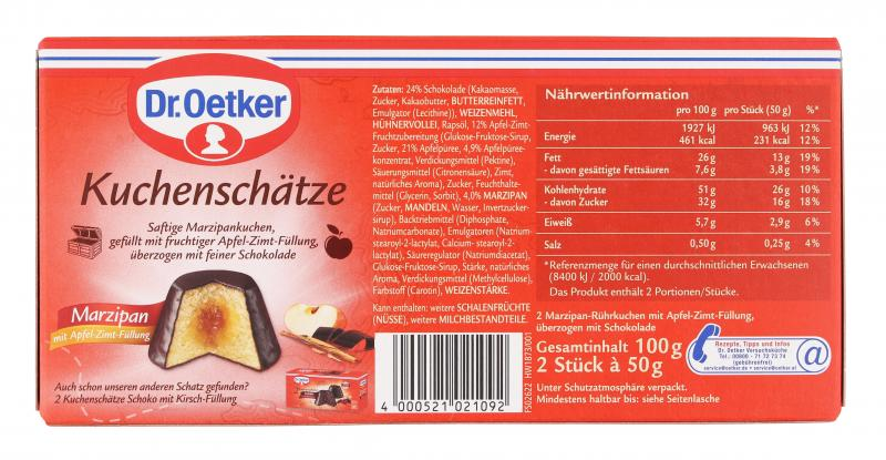 Dr. Oetker Kuchenschätze Marzipan mit Apfel-Zimt-Füllung