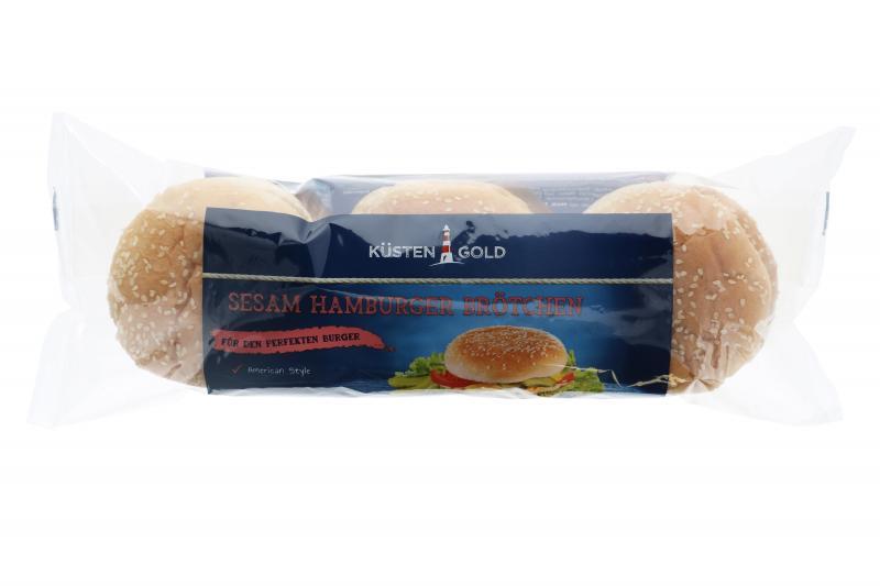 Küstengold Hamburger Brötchen Sesam