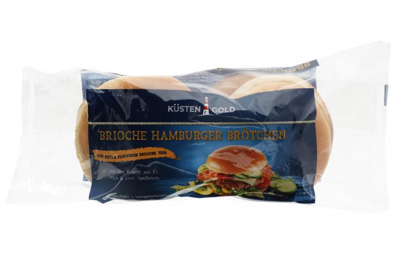 Küstengold Brioche Hamburger Brötchen 4er