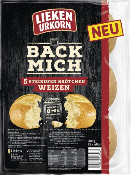 Lieken Urkorn Back Mich Steinofen Brötchen Weizen