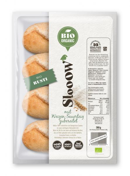 Slooow Bio Organic Brötchen Rusti