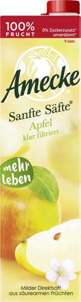 Amecke Sanfte Säfte Apfel klar filtriert