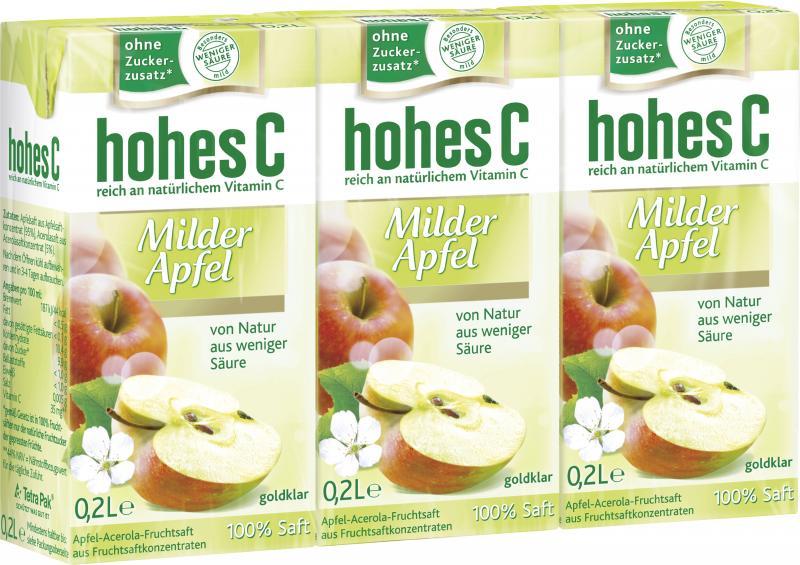 Hohes C Milder Apfel Trinkpäckchen