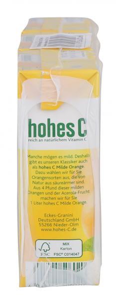 Hohes C Milde Orange Trinkpäckchen