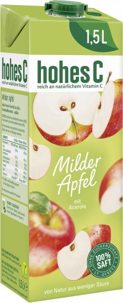 Hohes C Milder Apfel goldklar