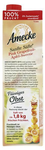 Amecke Sanfte Säfte Pink Grapefruit-Apfel-Sweetie