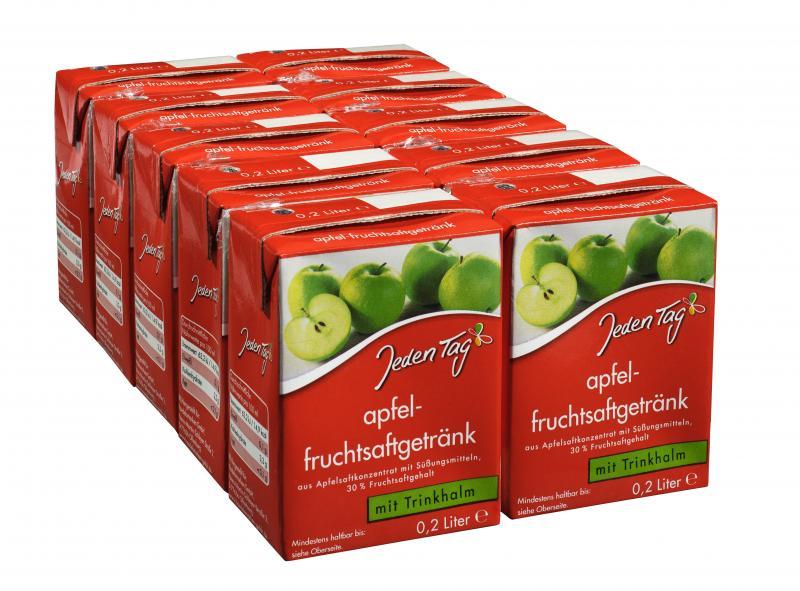 Jeden Tag Apfel-Fruchtsaftgetränk Trinkpäckchen