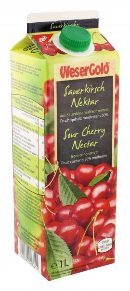 Wesergold Sauerkirsch-Nektar