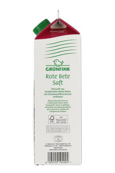 Grünfink Rote-Beete-Saft