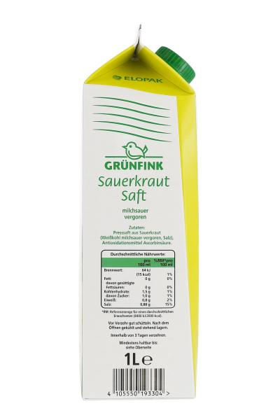 Grünfink Sauerkraut-Saft