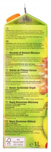 Wesergold Banane-Kirsch Getränk