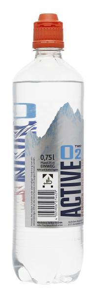 Active O2 Two Erfrischungsgetränk Pfirsich weißer Tee (Einweg)