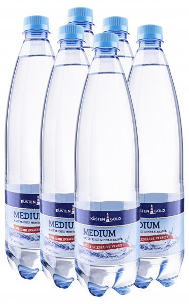 Küstengold Mineralwasser medium (Einweg)