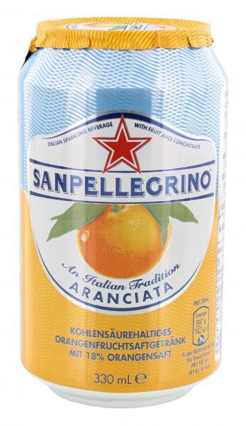 San Pellegrino Aranciata Orangen Limonade (Einweg)