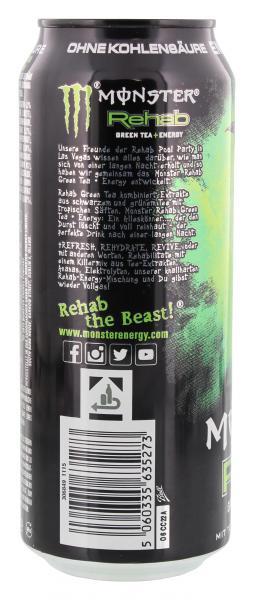 Monster Rehab Green Tea + Energy (Einweg)