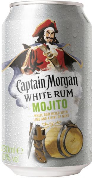 Captain Morgan White Rum Mojito (Einweg)