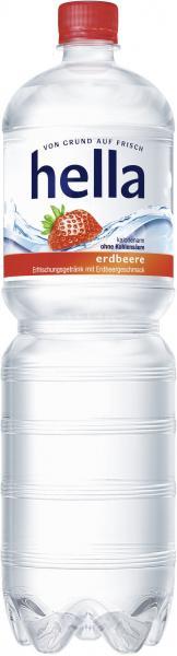 Hella Erfrischungsgetränk Erdbeere (Einweg)