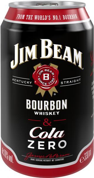 Jim Beam Bourbon Whiskey & Cola Zero (Einweg)