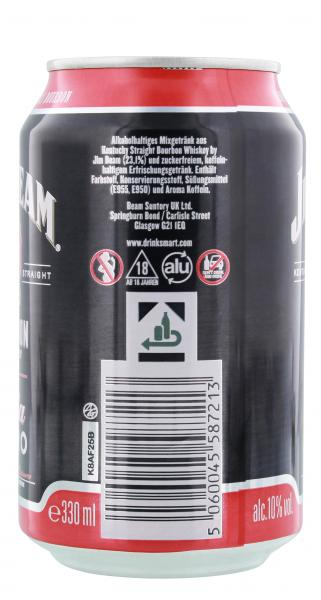 Jim Beam Bourbon Whiskey & Cola Zero (Einweg)