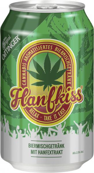 Oettinger Hanfkiss Biermischgetränk mit Hanfextrakt (Einweg)