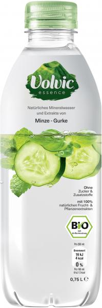 Volvic Essence Natürliches Mineralwasser Minze-Gurke (Einweg)