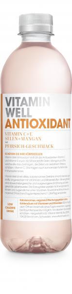 Vitamin Well Antioxidant mit Pfirsich-Geschmack (Einweg)