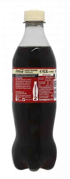 Coca-Cola ohne Zucker Vanilla PET (Einweg)