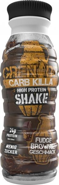 Grenade Carb Killa High Protein Shake Fudge Brownie (Einweg)