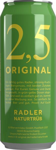 2,5 Original Radler naturtrüb (Einweg)