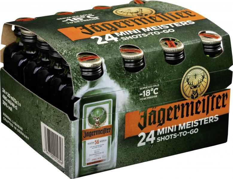 Jägermeister Kräuterlikör 24 kleine Jäger